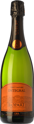 16,95 € Free Shipping | White sparkling Llopart Integral Brut Nature Reserva D.O. Cava Catalonia Spain Macabeo, Chardonnay, Parellada Bottle 75 cl