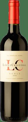 9,95 € Envío gratis | Vino tinto López Cristóbal Roble D.O. Ribera del Duero Castilla y León España Tempranillo, Merlot Botella 75 cl
