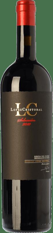 34,95 € Envío gratis | Vino tinto López Cristóbal Selección Crianza D.O. Ribera del Duero Castilla y León España Tempranillo Botella 75 cl