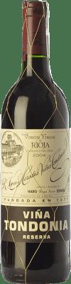 18,95 € Kostenloser Versand | Rotwein López de Heredia Viña Tondonia Reserva D.O.Ca. Rioja La Rioja Spanien Tempranillo, Grenache, Graciano, Mazuelo Halbe Flasche 37 cl