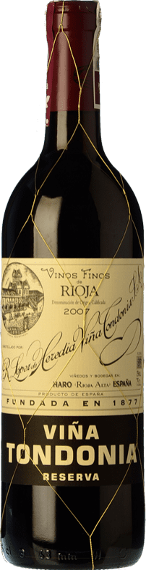 58,95 € Kostenloser Versand | Rotwein López de Heredia Viña Tondonia Reserva 2008 D.O.Ca. Rioja La Rioja Spanien Tempranillo, Grenache, Graciano, Mazuelo Magnum-Flasche 1,5 L