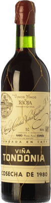 192,95 € Kostenloser Versand | Rotwein López de Heredia Viña Tondonia Gran Reserva 1995 D.O.Ca. Rioja La Rioja Spanien Tempranillo, Grenache, Graciano, Mazuelo Flasche 75 cl