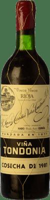 126,95 € Envoi gratuit | Vin rouge López de Heredia Viña Tondonia Gran Reserva 1995 D.O.Ca. Rioja La Rioja Espagne Tempranillo, Grenache, Graciano, Mazuelo Bouteille 75 cl