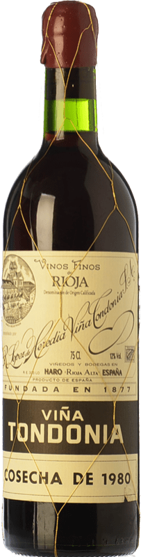 214,95 € Free Shipping | Red wine López de Heredia Viña Tondonia Gran Reserva 1995 D.O.Ca. Rioja The Rioja Spain Tempranillo, Grenache, Graciano, Mazuelo Bottle 75 cl