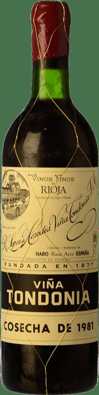 228,95 € Free Shipping | Red wine López de Heredia Viña Tondonia Gran Reserva D.O.Ca. Rioja The Rioja Spain Tempranillo, Grenache, Graciano, Mazuelo Bottle 75 cl