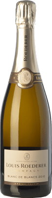 82,95 € Free Shipping | White sparkling Louis Roederer Blanc de Blancs Gran Reserva 2009 A.O.C. Champagne Champagne France Chardonnay Bottle 75 cl. | Thousands of wine lovers trust us to get the best price guarantee, free shipping always and hassle-free shopping and returns.