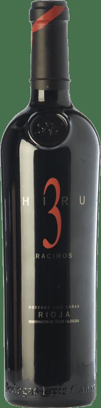104,95 € Free Shipping | Red wine Luis Cañas Hiru 3 Racimos Crianza 2009 D.O.Ca. Rioja The Rioja Spain Tempranillo Bottle 75 cl
