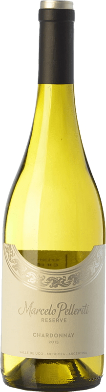 17,95 € Free Shipping | White wine Pelleriti Reserve Crianza I.G. Valle de Uco Uco Valley Argentina Chardonnay Bottle 75 cl