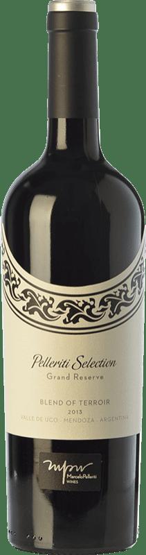 28,95 € Free Shipping | Red wine Pelleriti Selection Blend of Terroir Reserva I.G. Valle de Uco Uco Valley Argentina Cabernet Franc, Malbec, Petit Verdot Bottle 75 cl