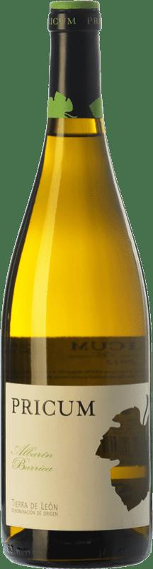 16,95 € Free Shipping | White wine Margón Pricum Barrica Crianza D.O. Tierra de León Castilla y León Spain Albarín Bottle 75 cl