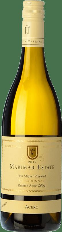 28,95 € Envoi gratuit | Vin blanc Marimar Estate Acero I.G. Russian River Valley Vallée de la rivière russe États Unis Chardonnay Bouteille 75 cl