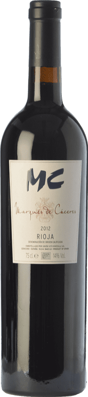 25,95 € Envoi gratuit | Vin rouge Marqués de Cáceres MC Crianza D.O.Ca. Rioja La Rioja Espagne Tempranillo Bouteille 75 cl