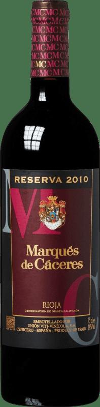 14,95 € Envoi gratuit | Vin rouge Marqués de Cáceres Reserva D.O.Ca. Rioja La Rioja Espagne Tempranillo, Grenache, Graciano Bouteille 75 cl