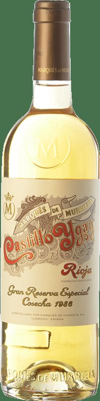 532,95 € Envío gratis | Vino blanco Marqués de Murrieta Castillo Ygay Crianza 1986 D.O.Ca. Rioja La Rioja España Viura, Malvasía Botella 75 cl