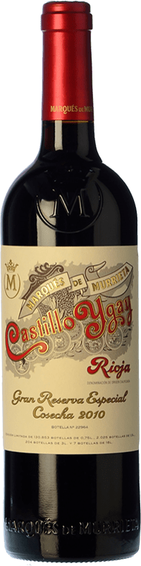 209,95 € Envoi gratuit | Vin rouge Marqués de Murrieta Castillo Ygay Especial Gran Reserva 2010 D.O.Ca. Rioja La Rioja Espagne Tempranillo, Mazuelo Bouteille 75 cl