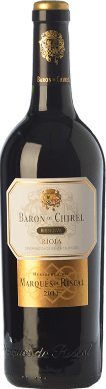 69,95 € Envoi gratuit   Vin rouge Marqués de Riscal Barón de Chirel Reserva D.O.Ca. Rioja La Rioja Espagne Tempranillo, Cabernet Sauvignon Bouteille 75 cl