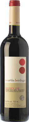 8,95 € Free Shipping | Red wine Martín Berdugo Barrica Joven D.O. Ribera del Duero Castilla y León Spain Tempranillo Bottle 75 cl
