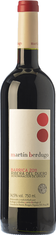 7,95 € Free Shipping | Red wine Martín Berdugo Barrica Joven D.O. Ribera del Duero Castilla y León Spain Tempranillo Bottle 75 cl
