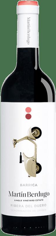 7,95 € Envío gratis | Vino tinto Martín Berdugo Barrica Joven D.O. Ribera del Duero Castilla y León España Tempranillo Botella 75 cl