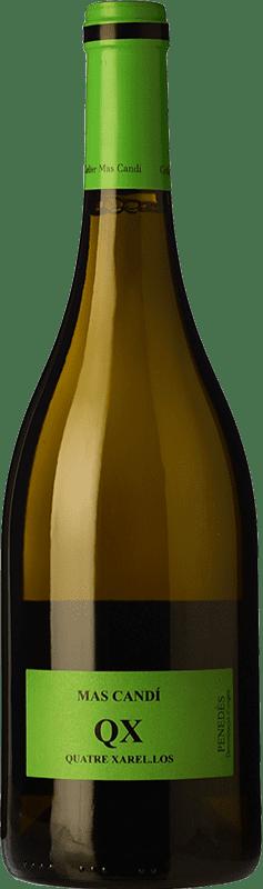 13,95 € Envío gratis | Vino blanco Mas Candí QX Quatre Xarel·los Crianza D.O. Penedès Cataluña España Xarel·lo Botella 75 cl