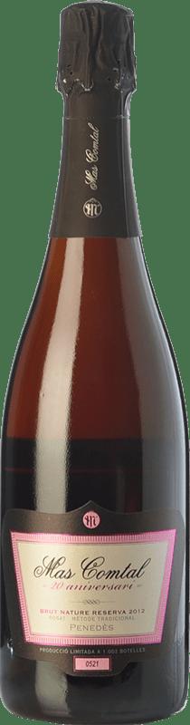 15,95 € Free Shipping | Rosé sparkling Mas Comtal 20 Aniversari Rosé Reserva D.O. Penedès Catalonia Spain Merlot Bottle 75 cl