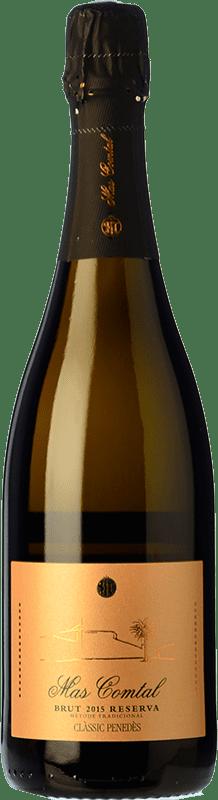 12,95 € Free Shipping | White sparkling Mas Comtal Brut Reserva D.O. Penedès Catalonia Spain Xarel·lo, Chardonnay Bottle 75 cl