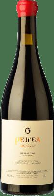 28,95 € Free Shipping | Red wine Mas Comtal Petrea Crianza D.O. Penedès Catalonia Spain Merlot Bottle 75 cl
