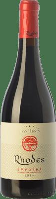 14,95 € Free Shipping | Red wine Mas Llunes Rhodes Crianza D.O. Empordà Catalonia Spain Syrah, Samsó Bottle 75 cl