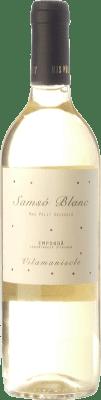 13,95 € Free Shipping | White wine Mas Pòlit Samsó Blanc D.O. Empordà Catalonia Spain Carignan White Bottle 75 cl