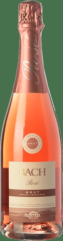 5,95 € Free Shipping | Rosé sparkling Bach Rosé Brut Joven D.O. Cava Catalonia Spain Grenache, Monastrell, Pinot Black Bottle 75 cl