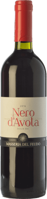 11,95 € Free Shipping | Red wine Masseria del Feudo I.G.T. Terre Siciliane Sicily Italy Nero d'Avola Bottle 75 cl