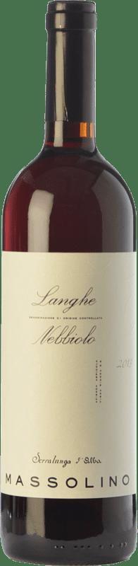 19,95 € Envío gratis | Vino tinto Massolino D.O.C. Langhe Piemonte Italia Nebbiolo Botella 75 cl