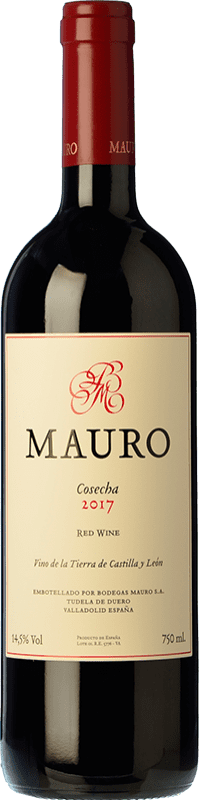 39,95 € 免费送货 | 红酒 Mauro Crianza I.G.P. Vino de la Tierra de Castilla y León 卡斯蒂利亚莱昂 西班牙 Tempranillo, Syrah 瓶子 75 cl