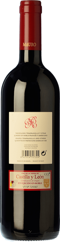 39,95 € Envoi gratuit | Vin rouge Mauro Crianza I.G.P. Vino de la Tierra de Castilla y León Castille et Leon Espagne Tempranillo, Syrah Bouteille 75 cl