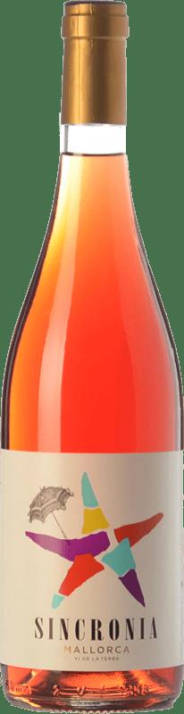 8,95 € Free Shipping | Rosé wine Mesquida Mora Sincronia Rosat I.G.P. Vi de la Terra de Mallorca Balearic Islands Spain Merlot, Cabernet Sauvignon, Callet Bottle 75 cl