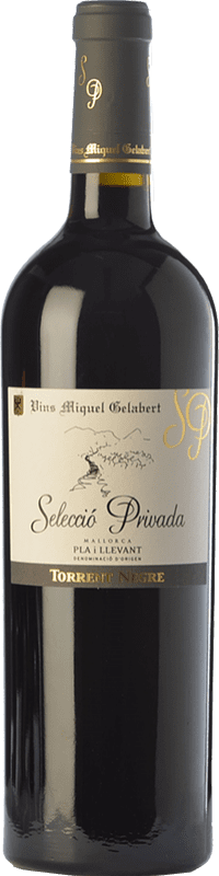 28,95 € Free Shipping | Red wine Miquel Gelabert Torrent Negre Selecció Privada Crianza D.O. Pla i Llevant Balearic Islands Spain Cabernet Sauvignon Bottle 75 cl