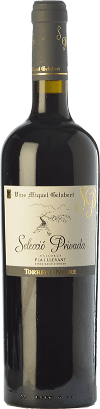 21,95 € Free Shipping | Red wine Miquel Gelabert Torrent Negre Selecció Privada Crianza D.O. Pla i Llevant Balearic Islands Spain Syrah Bottle 75 cl