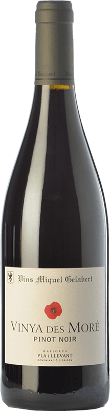 18,95 € Free Shipping | Red wine Miquel Gelabert Vinya des Moré Crianza D.O. Pla i Llevant Balearic Islands Spain Pinot Black Bottle 75 cl
