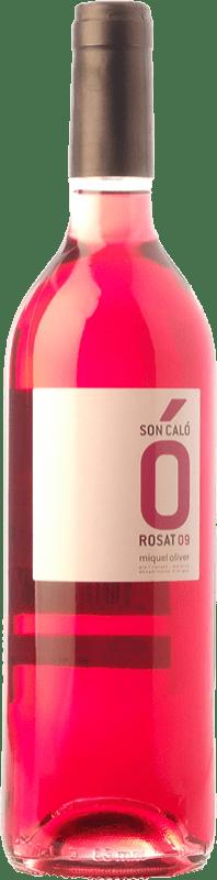 5,95 € Envío gratis | Vino rosado Miquel Oliver Son Caló Rosat D.O. Pla i Llevant Islas Baleares España Tempranillo, Callet, Fogoneu Botella 75 cl