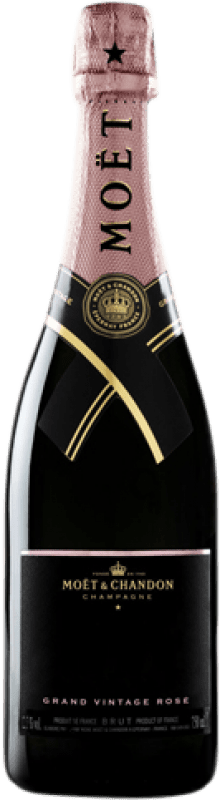 74,95 € Free Shipping | Rosé sparkling Moët & Chandon Grand Vintage Rosé 2009 A.O.C. Champagne Champagne France Pinot Black, Chardonnay, Pinot Meunier Bottle 75 cl
