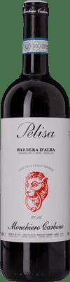 13,95 € Free Shipping | Red wine Monchiero Carbone Pelisa D.O.C. Barbera d'Alba Piemonte Italy Barbera Bottle 75 cl