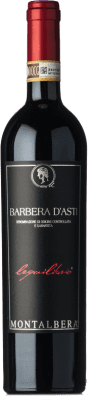 16,95 € Free Shipping | Red wine Montalbera Lequilibrio D.O.C. Barbera d'Asti Piemonte Italy Barbera Bottle 75 cl