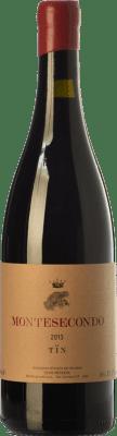 37,95 € Free Shipping | Red wine Montesecondo Tïn I.G.T. Toscana Tuscany Italy Sangiovese Bottle 75 cl