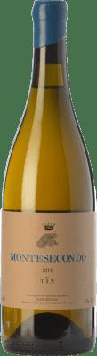 23,95 € Free Shipping | White wine Montesecondo Tin Bianco I.G.T. Toscana Tuscany Italy Trebbiano Bottle 75 cl