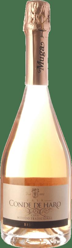21,95 € Free Shipping | Rosé sparkling Muga Conde de Haro Rosé Brut D.O. Cava Catalonia Spain Grenache Bottle 75 cl