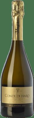 13,95 € Kostenloser Versand | Weißer Sekt Muga Conde de Haro Vintage Brut D.O. Cava Katalonien Spanien Viura, Malvasía Flasche 75 cl
