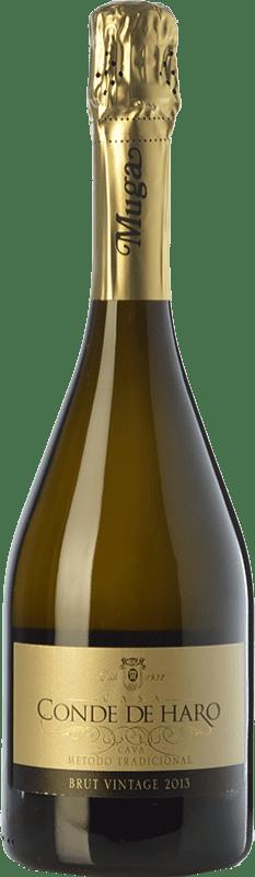 15,95 € Envio grátis | Espumante branco Muga Conde de Haro Vintage Brut D.O. Cava Catalunha Espanha Viura, Malvasía Garrafa 75 cl
