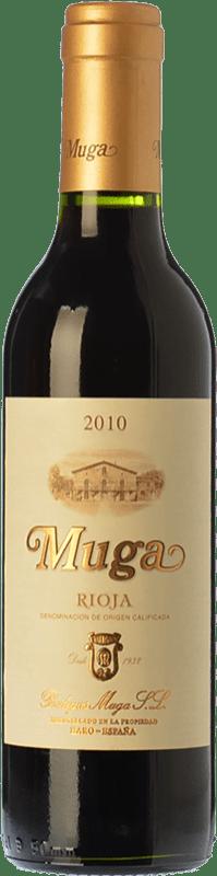 15,95 € Free Shipping | Red wine Muga Crianza D.O.Ca. Rioja The Rioja Spain Tempranillo, Grenache, Graciano, Mazuelo Special Bottle 5 L