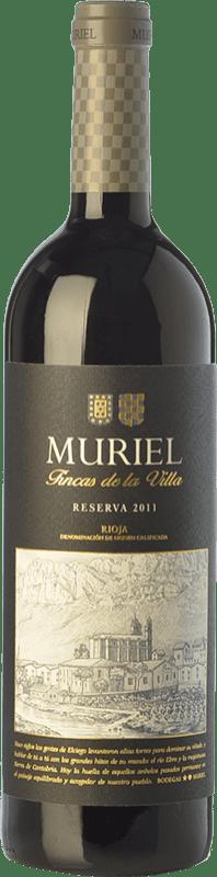 10,95 € Free Shipping | Red wine Muriel Fincas de la Villa Reserva D.O.Ca. Rioja The Rioja Spain Tempranillo Bottle 75 cl