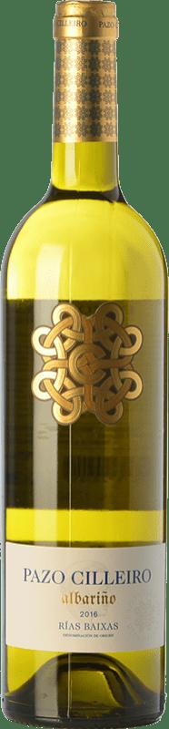 8,95 € Envio grátis | Vinho branco Muriel Pazo Cilleiro D.O. Rías Baixas Galiza Espanha Albariño Garrafa 75 cl